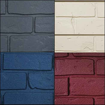 Solid Painted Brick Texture Slatwall Panels - Multiple Color Options