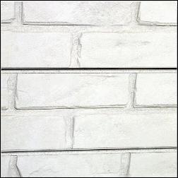Designer Retail White Brick Slatwall