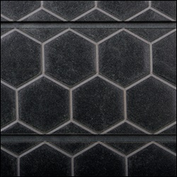 Honey Comb Textured Slatwall - Black