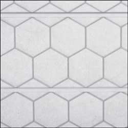 Honey Comb Textured Slatwall - White