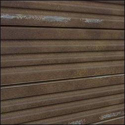 Corrugated Rusted Metal Slatwall