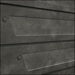 Realistic Heavy Metal Design Slatwall