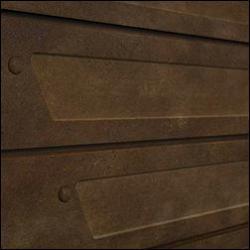 Realistic Rusted Heavy Metal Slatwall