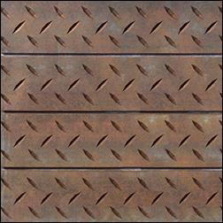 Diamond Plate Rusted Textured Slatwall