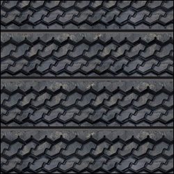 Textured Tire Tread Slatwall