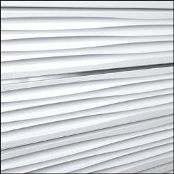 White Wave Designer Slatwall