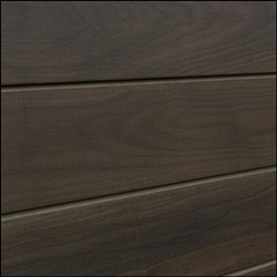 Dark Walnut Grained MDF Slatwall