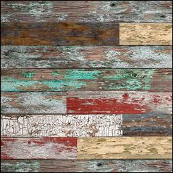 Old Paint On Wood Grain Slatwall - Mixed Colors