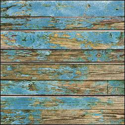 Old Paint On Wood Grain Slatwall - Blue