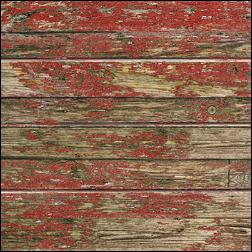 Old Paint On Wood Grain Slatwall - Red