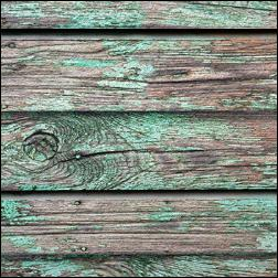 Old Paint On Wood Grain Slatwall - Green