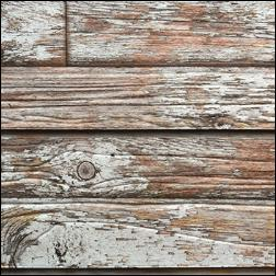 Old Paint On Wood Grain Slatwall - White