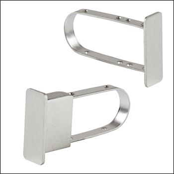 Brushed Satin End Caps for Rectangular Tubing Hangbar