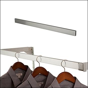 Brushed Satin Chrome Rectangular Tubing Hangbar - Multi Sizes