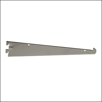 "Chrome 12"" Shelf Bracket for Universal Slotting"