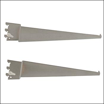 Brushed Satin Chrome Off-Set Shelf Brackets - Left & Right