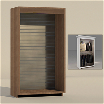 Single Section Armoire - Finish, Trim & Back Wall Options