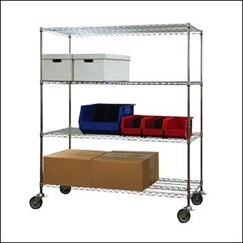 Wire Shelving 86'H