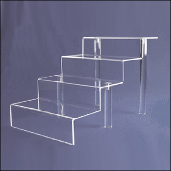 4 Step Acrylic Stairs with Removable Legs - Multiple Size Options