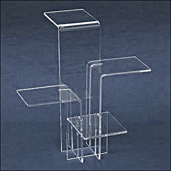 Acrylic 4 Platform Tower Display - Multi Size Options