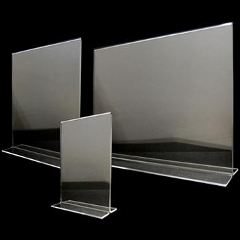 Acrylic Bottom Loading 2-Way Sign Holder - Multiple Sizes