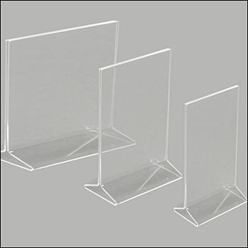 Acrylic Top Loading 2-Way Sign Holder - Multiple Sizes