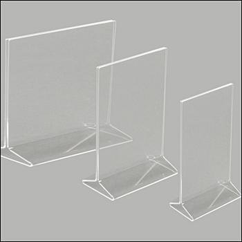 Acrylic Top Loading 2-Way Sign Holder - Multiple Sizes