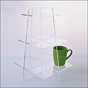 Acrylic 3 Tier Shelf Pyramid Display