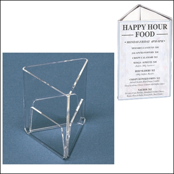 Countertop 3-Sided Triangle Acrylic Sign - Multiple Sizes