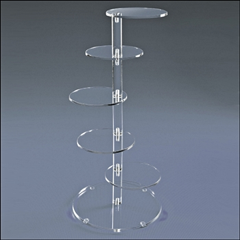 Acrylic 5 Round Shelf Tower Display