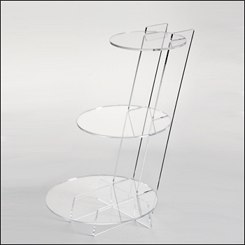 Acrylic Modern Interlocking Round Shelving Display - Multiple Sizes