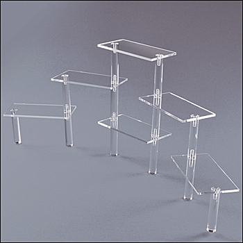 Acrylic Rectangle Platform Tier Display - Multi-Sizes