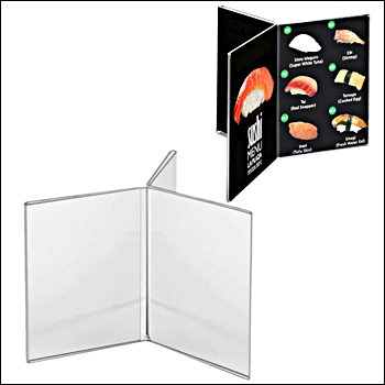 Countertop 6-Sided Acrylic Sign Holder - Multiple Sizes