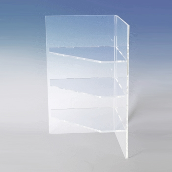 Acrylic Countertop Corner Shelving - Multiple Sizes