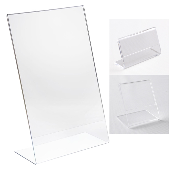 Angled Acrylic Sign Holder - Multiple Sizes