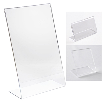 Angled Acrylic Sign Holder - Multiple Sizes
