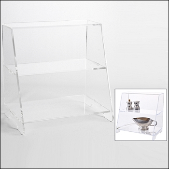 Acrylic Angled Shelf Display for Countertops - Multiple Sizes