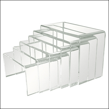 Economy Set of 6 Acrylic Risers