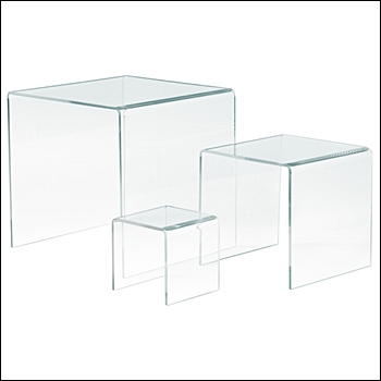 Economy Set of 3 Acrylic Risers - Multi-Size Sets