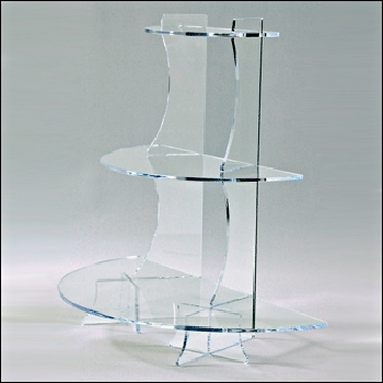 Acrylic Semi-Circle Tiered Wall Shelf Unit