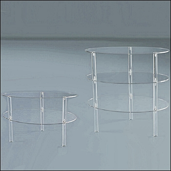 Acrylic Oval Countertop Shelf Unit - Multiple Sizes