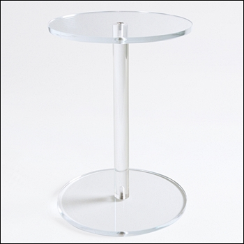 Round Acrylic Barbell Style Riser - Multiple Sizes