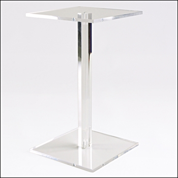 Square Acrylic Barbell Style Riser - Multiple Sizes