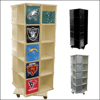 20 Shirt Revolving T-Shirt Display - Multi Finish Options
