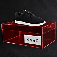 acrylic custom branded shoe display 200