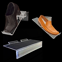 acrylic shoe displays slatwall 200