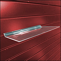 acrylic slatwall straight shelf 200