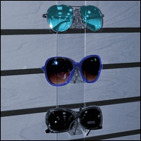 acrylic slatwall sunglass displays