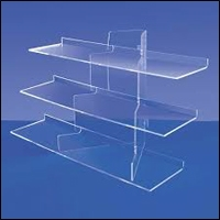 acrylic tiered displays 200