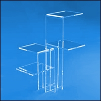 acrylic tower riser display 200
